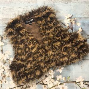 EUC Forever 21 Faux Fur Vest - Size Large
